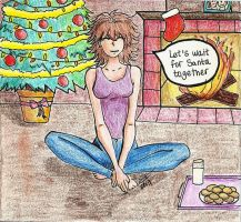 Let's wait for Santa together by SoffsArt
