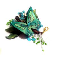 Unique statement branch bracelet with butterfly. by julishland