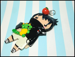 Kid Sasuke Charm by GrandmaThunderpants