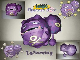 Weezing Papercraft by Sabi996