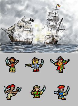 Pirate Postcard by Borovous