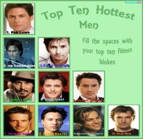 Top 10 Hottest Guys by liasid
