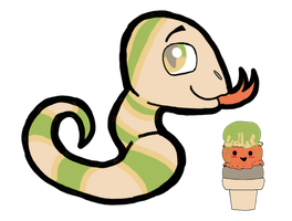 Ice Cream Palette Adopt: Snake by FaithLeafCat