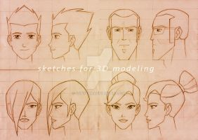 Sketches for 3D modeling by SunyFan
