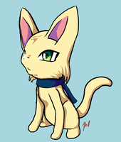 Saber as a Cat by DeadlyObsession
