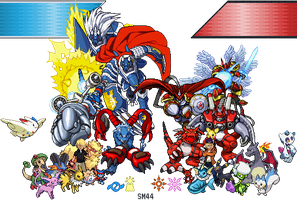 Digimon and Pokemon ID by spritemaster44
