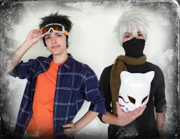 Uchiha Obito and Hatake Kakashi by Guilcosplay