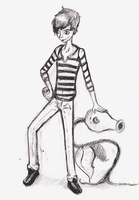 Trainer and Bellsprout Sketch by Bapazu