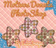 Motivos Donuts PhotoShop by TutozzOrangee