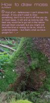 How to draw moss by Entheris