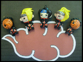 Chibi-Charms: The Akatsuki by MandyPandaa