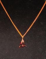Red d4 necklace by BlackUnicornWood