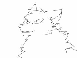 Confident wolf lineart by InuYoukai-CotC