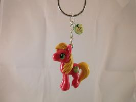 Big Macintosh Cutie Mark Charmed Keychain by DeadHeartMare