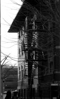 Fire Escape B and W by light-scape