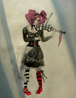 Play the violin by chaosqueen122