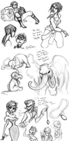 April 2012 Sketchdump by katseartist
