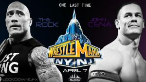 WWE Wrestlemania 29 Poster - John Cena Vs The Rock by LockdownGFX