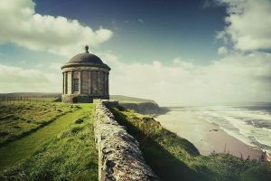 Mussenden Temple by franticphotos