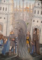 At the Great Gate of Gondolin by Murrauddin