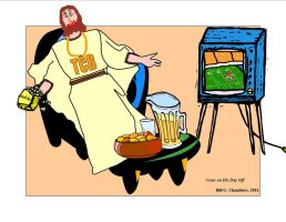Jesus on His Day Off by VicDillinger