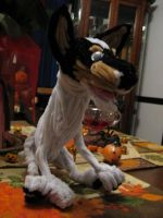 Pipecleaner Rat Terrier Front by DarkSaberCat