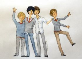 schoolboys by button-bird
