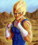 Majin Vegeta 2 by Dinklebert