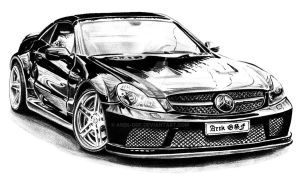 Mercedes Benz SL65 AMG Black Series by Arek-OGF