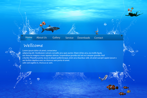 UnderWater Protfolio_Website by DanieLSsTyLe