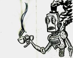 Sketchbomb Steampunk Robot by DrSprinkles
