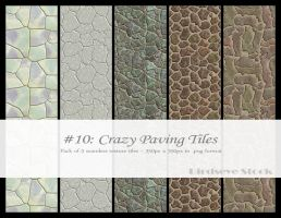 Crazy Paving Tiles by BirdseyeStock