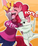 Pinkie pie and Excalibur by ss2sonic
