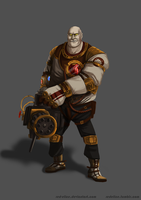 TF2 Heavy meets Bioshock by redelice