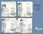 Sherlock Comic: 'You look hot, John!' by FrauAubrey