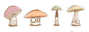 Psycho Mushrooms by mausmouse
