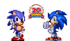 Happy 20th, Sonic by Tailikku1