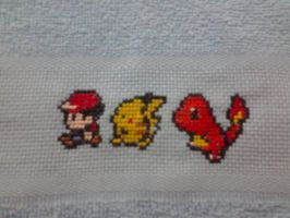Baby Towell Pokemon 8bit by MarieLorenzutti