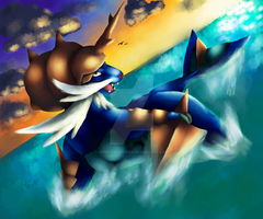 Samurott Speedpaint by XSpiritWarriorX