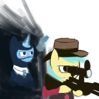 Danger in the Shadows (painted) by bigfatal21