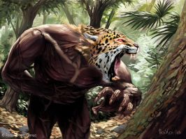 Jaguar Warrior by boscopenciller