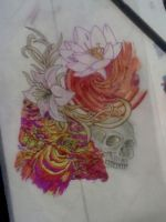 skulls, flowers ect by pikeygeorge