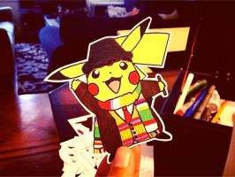 pikachu / doctor 4 (tom baker) by dance-arcadia