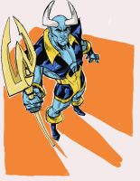 Blue Devil Digital Sketch by hyperjack08