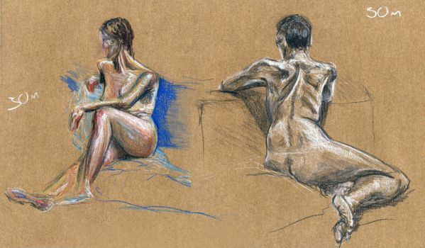 Some life drawing by SemeruWarrior