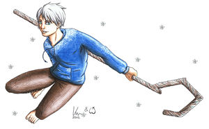 Collab: RotG - Jack Frost by Freaky-chan