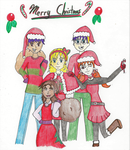 Merry Christmas From The Hamatos! by MiraculousLover21