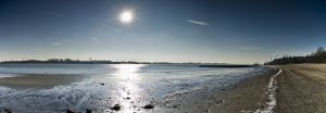 Pano Hamburg Sun over beach by Bull04