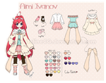 Aimi Ivanov [Character Reference Sheet] by MadelineCG