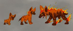 Fire starter fakemon by Crypahit